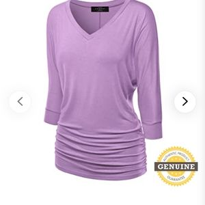 NWT Lilac Plus Size JOHNNY 3/4 Sleeve Blouse